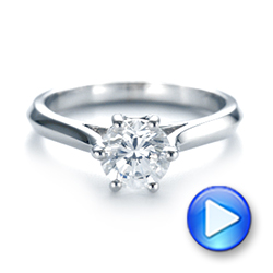 Solitaire Diamond Engagement Ring - Interactive Video - 104114 - Thumbnail