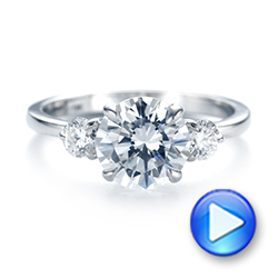 Three-stone Diamond Engagement Ring - Interactive Video - 104169 - Thumbnail