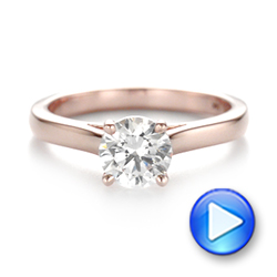 Diamond Solitaire Engagement Ring - Interactive Video - 104186 - Thumbnail