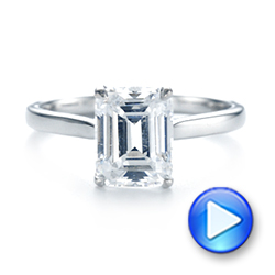 Solitaire Diamond Engagement Ring - Interactive Video - 104210 - Thumbnail