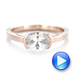 14k Rose Gold Solitaire Engagement Ring - Video -  104327 - Thumbnail