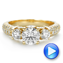 Custom Pave Diamond Engagement Ring - Interactive Video - 104849 - Thumbnail