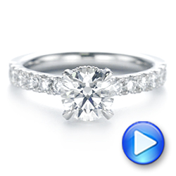 14k White Gold Classic Diamond Engagement Ring - Video -  104879 - Thumbnail