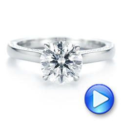 Platinum Peekaboo Diamond Engagement Ring - Interactive Video - 104882 - Thumbnail