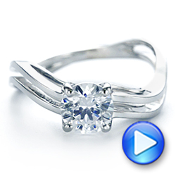 Double Strand Solitaire Diamond Engagement Ring - Interactive Video - 105179 - Thumbnail