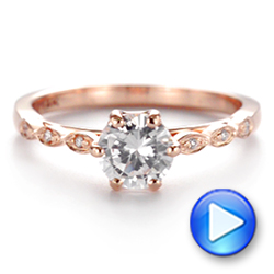 Marquise Shaped Classic Diamond Engagement Ring - Interactive Video - 105182 - Thumbnail