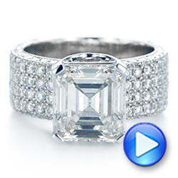 Modern Pave Diamond Engagement Ring - Interactive Video - 105188 - Thumbnail