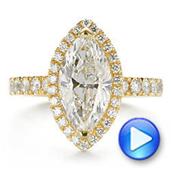 Marquise Diamond Halo Engagement Ring - Interactive Video - 105189 - Thumbnail