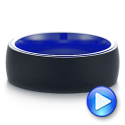 Tungsten Blue Ceramic Band - Video -  105304 - Thumbnail