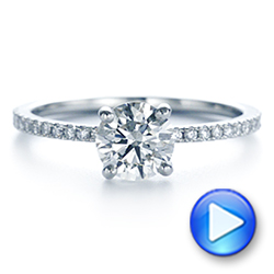 Platinum Classic Diamond Engagement Ring - Video -  105747 - Thumbnail