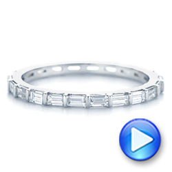 14k White Gold Baguette Diamond Eternity Wedding Band - Video -  105865 - Thumbnail