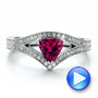 Custom Pink Sapphire Engagement Ring - Interactive Video - 100113 - Thumbnail