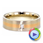 14K Gold And 18k Rose Gold Custom Men's Wedding Band - Video -  1417 - Thumbnail
