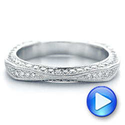 18k White Gold Women's Diamond Anniversary Band - Video -  988 - Thumbnail